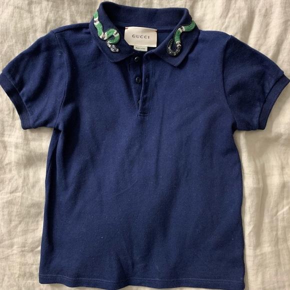 02cca292 Gucci Shirts & Tops | Limited Edition Boys Snake Colar Polo | Poshmark